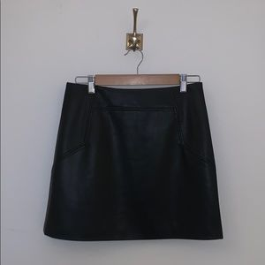 HM faux leather mini skirt - never worn